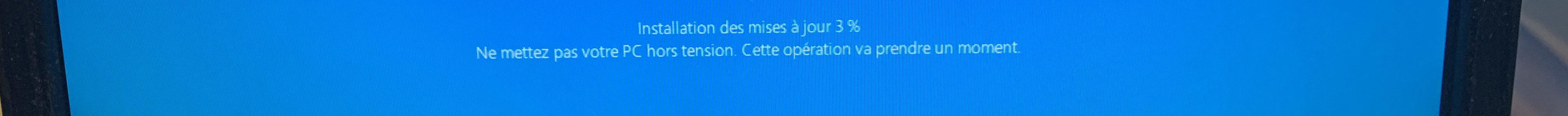 installation mise à jour Windows 10